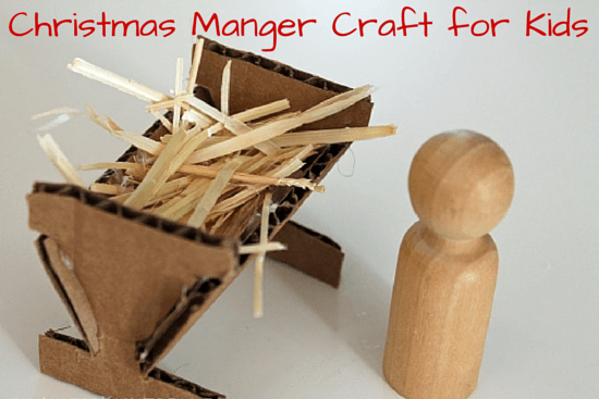 Christmas Manger Craft for Kids