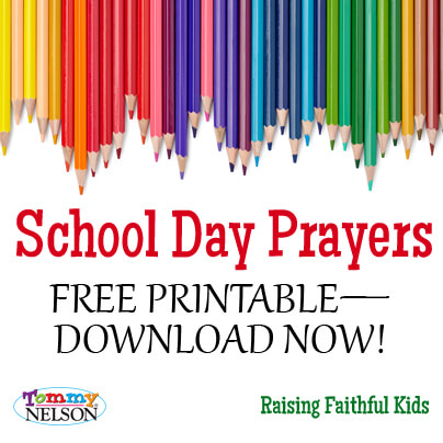 School Day Prayers Printable