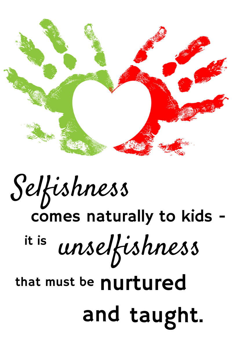 Selfishness comes naturally to kids on Combating Selfishness in Little Ones blog