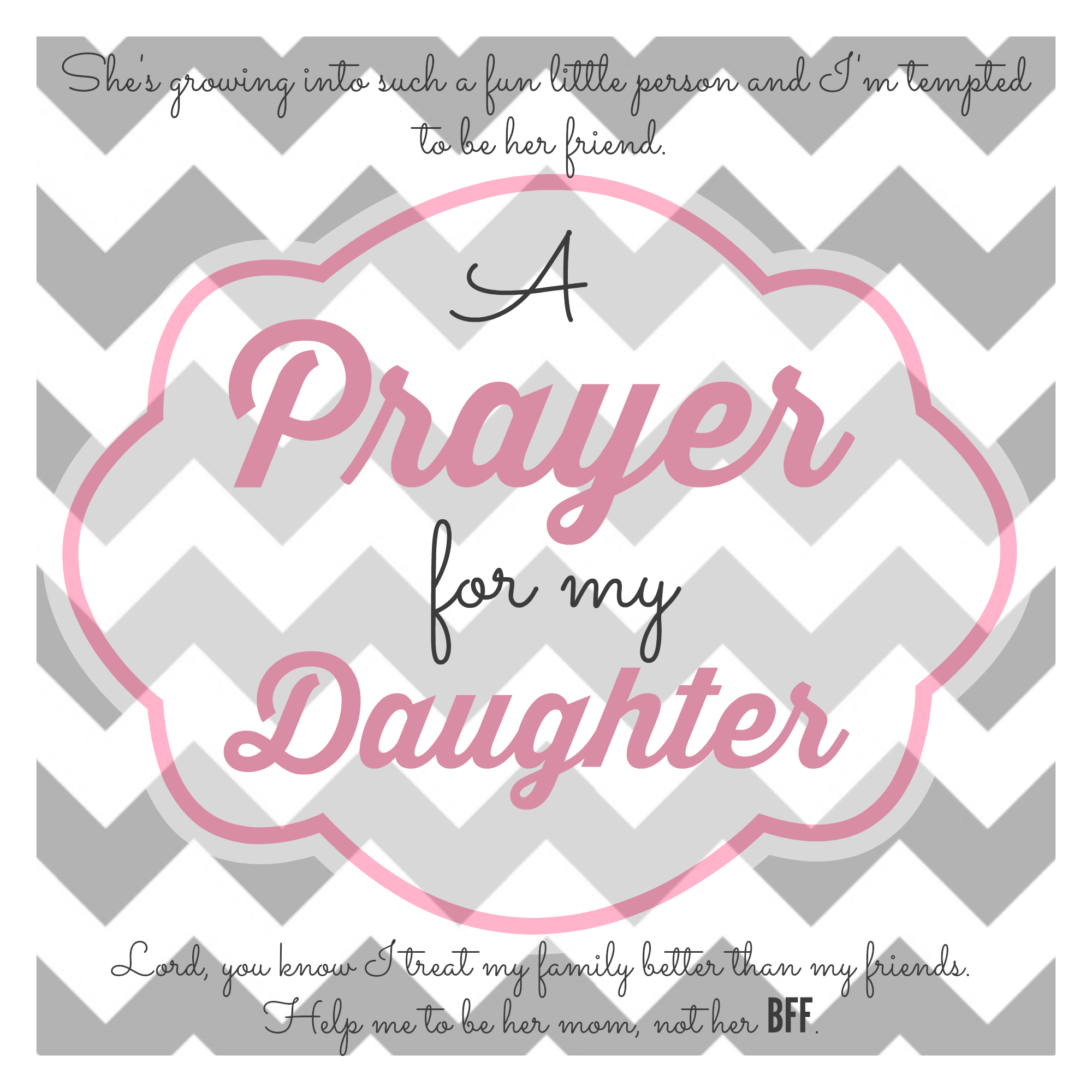 Praying for our daughters